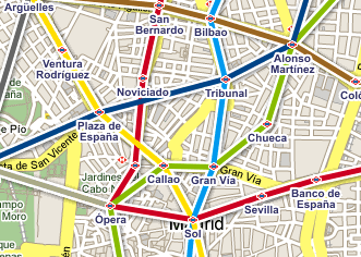 Metro de Madrid en Google Maps